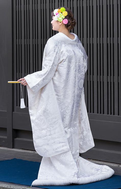 白無垢-相良刺繍鳳凰唐華文