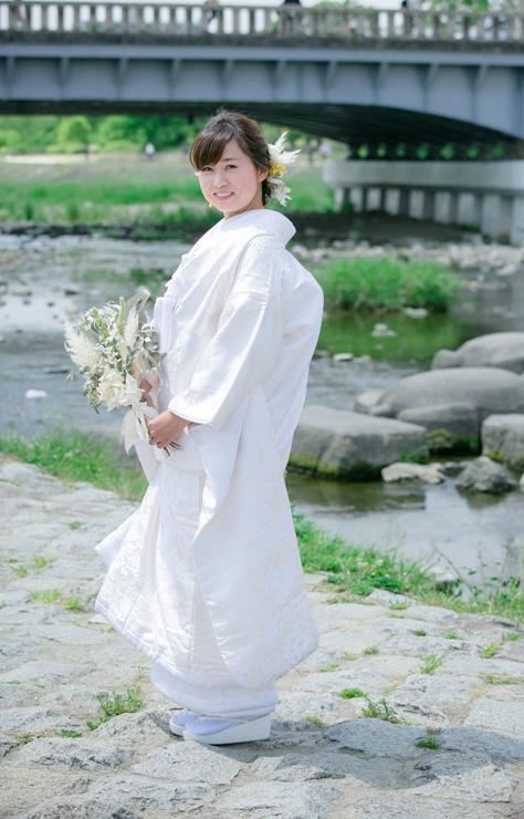 白無垢  松に鶴