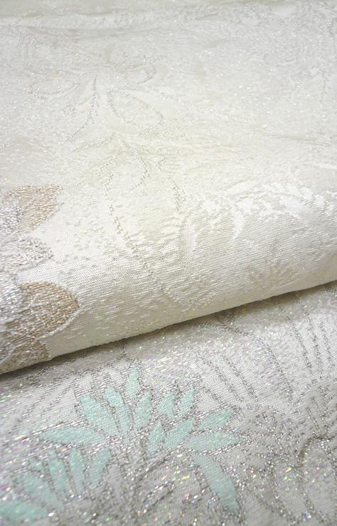 白無垢 正絹シボパール花篭