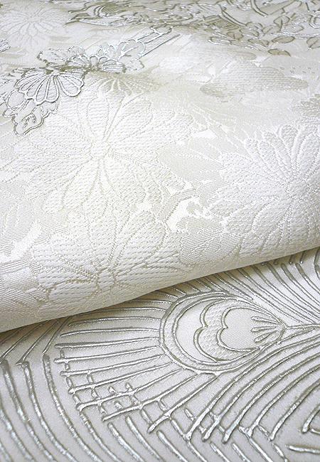白無垢 銀彩孔雀に花車のブログ画像